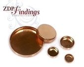 Round 14k Rose Gold Filled (NOT PLATED) Bezel Cups Tray Choose your Size (2940VRGF)