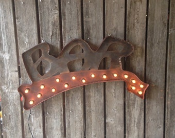 3 foot Marquee BAR Sign