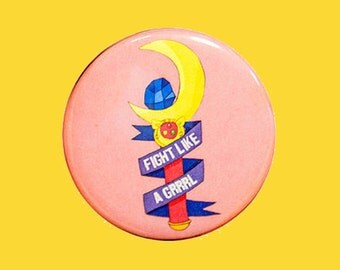 fight like a grrrl | 2.25 inch pin back button