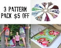 3 great back to school patterns save 5 dollars 3 patterns for the price of 2 BOGO sale