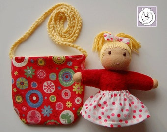 Waldorf inspired Pocket Doll with Ponytail