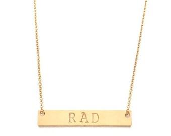 Rad Bar Necklace