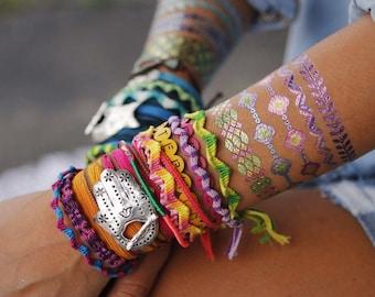 Hippie Jewelry, Hippie Bracelet, Hippie Wrap Bracelet, Hippie Fashion Jewelry, Hippie Accessories, Hippie Silk Wrap Bracelet Hamsa Hand