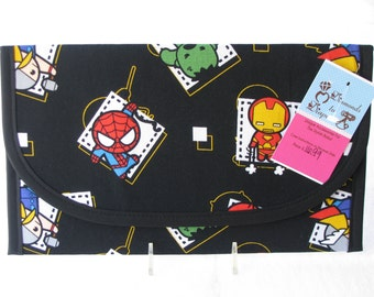 Baby Avengers Superhero Badge Diaper and Wipes Case Holder Clutch
