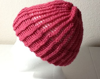 Hand Knitted Hat Sized Child