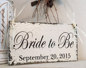 BRIDE to BE | Wedding Signs | Shower Signs | Bride and Groom | Mr. and Mrs. | 9 x 5 Chair Signs | Bridal Shower Sign