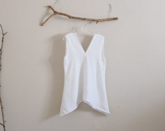 white summer linen sparrow top bust 36 inch room ready to wear