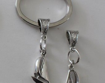 Sterling 3D SAILBOAT Key Ring - Key Chain - Boating, Watersports