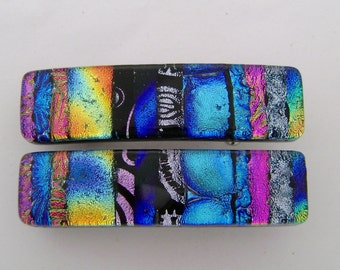 Small Pair of dichroic barrettes.