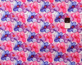 Kathy Davis PWKD069 Pocketful Of Poppies Petals Berry Cotton Fabric 1 Yard