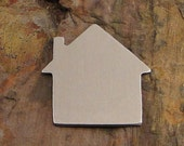 """5 Deburred 1 1/4"""" HOUSE *Choose Your Metal* Aluminum Brass Bronze Copper Nickel Silver Stamping Blanks"""