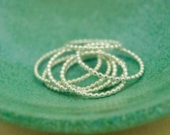 Sterling silver bead rings