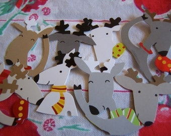 little paper deer heads