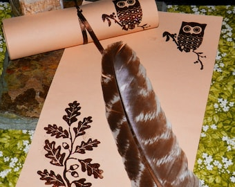 OWL TOTEM Magic Spell SPIRIT Animal Parchment Brown, Pagan, Fairy, Wicca