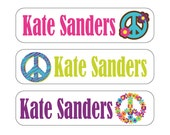 40 Peace Waterproof Kid's Sippy Cup or baby item Labels - Dishwasher Safe - great for food containers, bottles, lunch box, jars Sip010