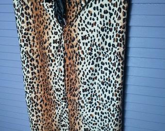 Leopard Print Cotton Pencil Skirt Size Small SALE