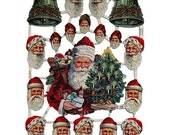 Germany Paper Victorian Scraps Of Santa Claus For Christmas Projects  7220