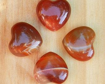 Carnelian Gemstone Heart