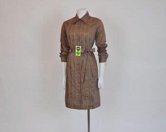 1960s dress / Vintage 60's Dress - A Formal Affair Tuxedo Shirt Dress
