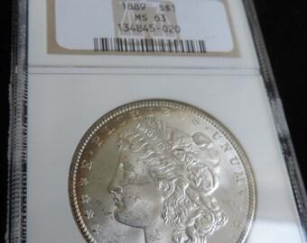 1889-P Morgan Dollar NGC MS 63