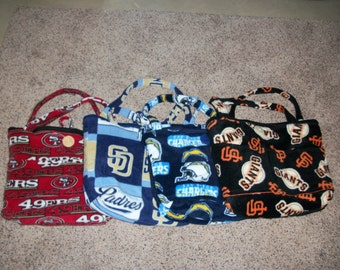 Fleece Diaper Bag Sports Patterns (San Francisco 49ers, San Diego Chargers block, San Diego Chargers Traditional or San Francisco Giants)