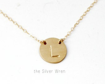 Initial Necklace, Gold, Silver or Rose Gold Initial Necklace, Everyday Necklace, Personalized Jewelry, Bridesmaid Necklace, Simple Necklace