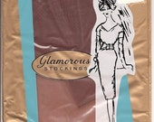 Vintage 60s Seamless Glamorous Stockings Size 10.5 NOS
