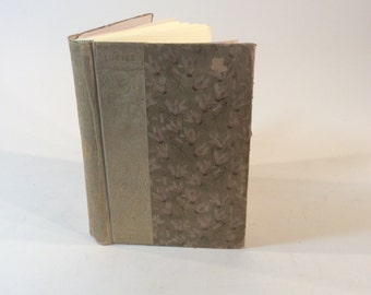 Vintage Writing Diary / Blank Guest Book by Binding Bee