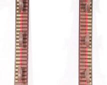 GUCCI VINTAGE Brown 3 Gun Rack Rifle Wall Display w/ Fake Bullets Rare ab