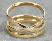 Solid Gold Infinity Ring Plus One, 14K Yellow Gold, 2mm, Eternity Ring, Symbolic, Love, Sea Babe Jewelry