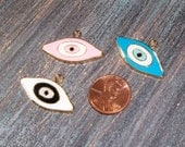 Evil Eye charms 6pcs  (sp97) - novelty, Turkish, Greek, pagan