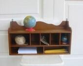Vintage Wood Shelf Display Box Organize Supplies Storage