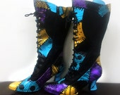 Nightmare Before Christmas | SALLY themed design for heels / wedges / boots | Glitter or paint