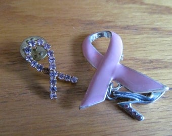 Two pink ribbons