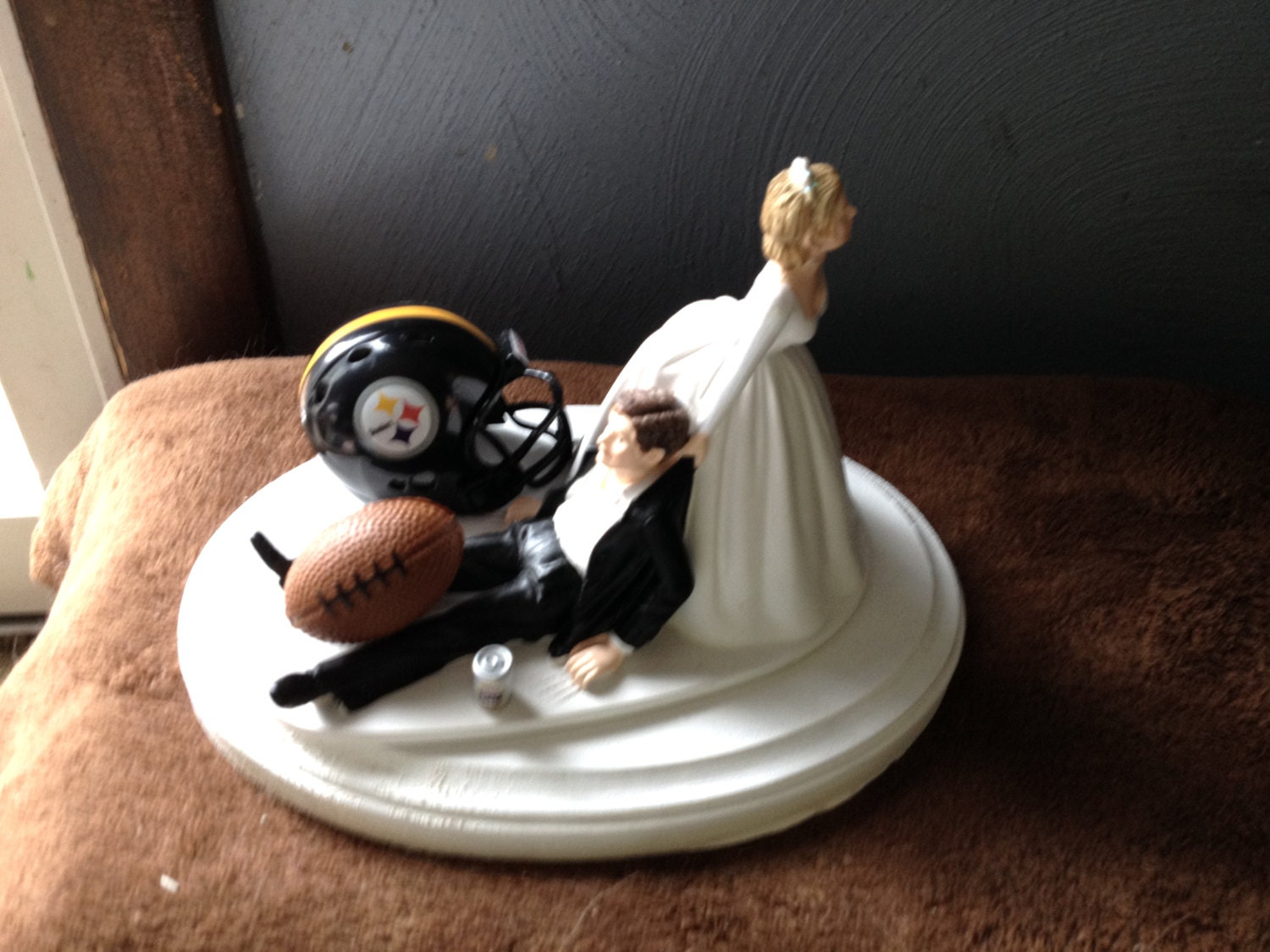 pittsburgh steelers wedding cake topper pittsburgh steelers wedding cake topper bridal football 18624