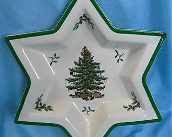 "Vintage SPODE Christmas Tree ""Star"" Bowl"