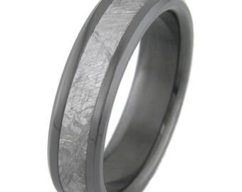 Meteorite Black Zirconium with Bevels