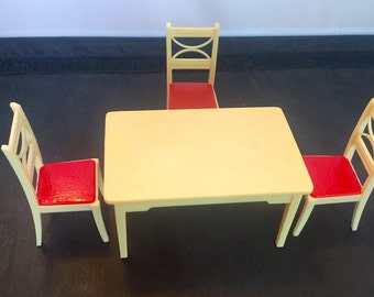 Vintage Renwal Kitchen Table with 3 chairs K-67 1950s