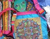 Hippie Festival, Prayer Flags, Peace Love, Singleton Art, Hippie art, Evil Eye, Third eye, Mandala art, Protection eye, all seeing eye, A89