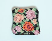 Dollhouse Miniature Couch Throw Pillow Cross Stitched Tapestry