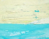 Ocean painting: Out to Sea II, original oil painting, abstract painting, teal blue, beach, ocean painting