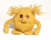 Yellow Mini Hug Monster Toy mascot