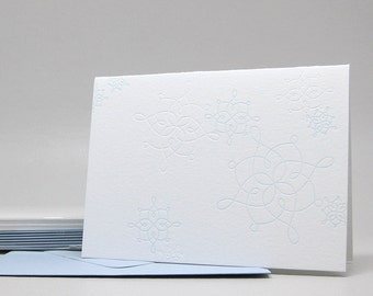 Fancy Snowflakes - Letterpress Notecards