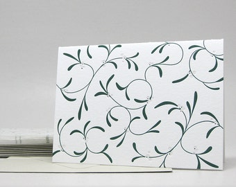 Mistletoe - Letterpress Notecards