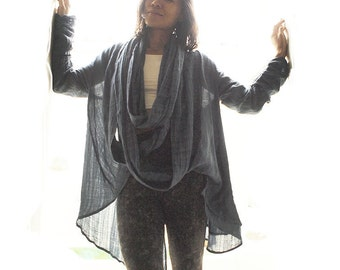 Love loop... thin linen/cotton /  versatile jacket/ scarf (One size) all colors