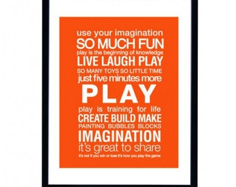 Custom Play Room Art Print