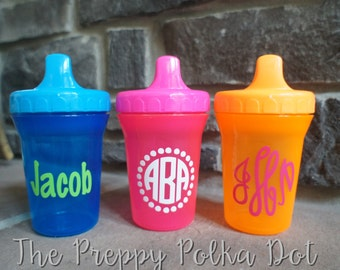 Personalized Monogram Toddler Sippy Cup - 8oz