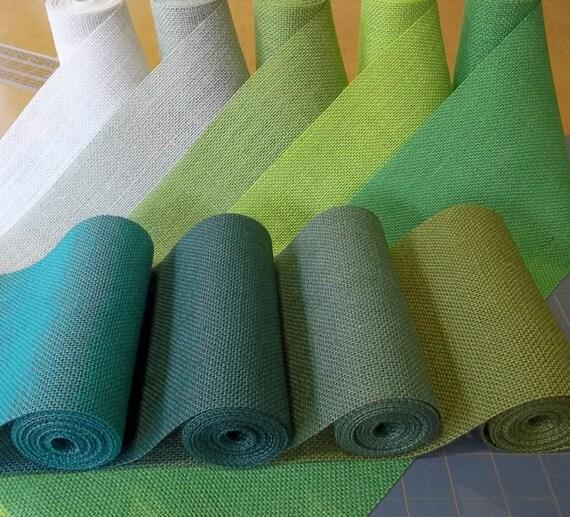 6 inch green burlap ribbon 8 shades available for Green burlap ribbon