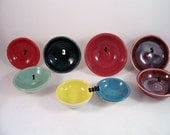 Teeny tiny wheel thrown porcelain bowls - food prep or condiment serving - food safe
