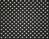 Black small dots knit 1 yard